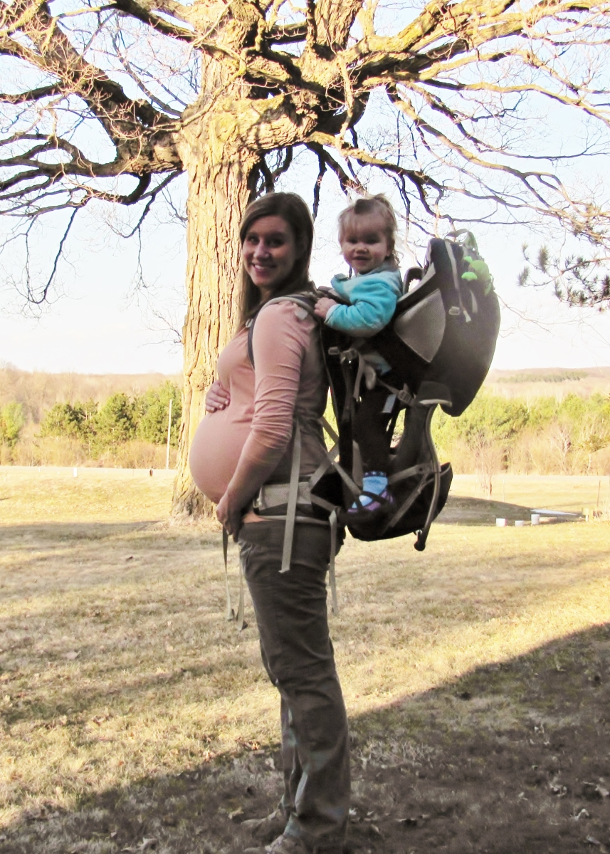 26 weeks - backpack = ouch