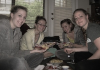 Flashback Atlanta 2008, roomie bday breakfast